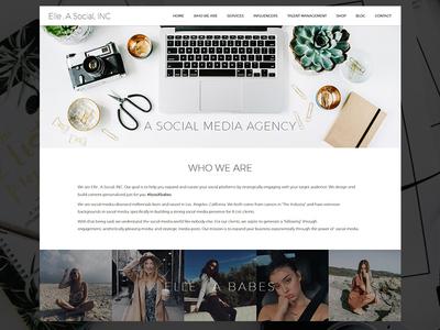 Social Media Agency Website one page responsive mobile influencers instagram agency website social media