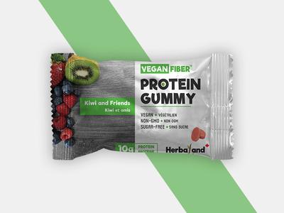 Protein Gummy Packaging Design