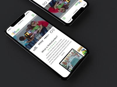 Robogarden Responsive Website elearning website education website responsive education iphone x