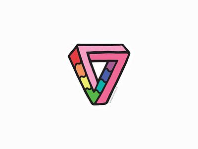 Impossibly Gay Triangle pride lgbtqia vector bianca designs illustration design