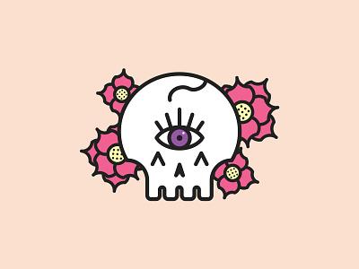 Awaken your third eye skulls vector illustration bianca designs design