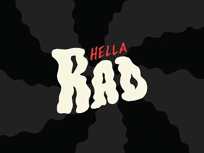 you're hella rad bianca designs texture sketch adobe illustrator minimal flat rad halloween spooky custom type vector illustration typography design
