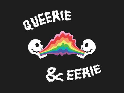 Queerie & Eerie sketch adobe illustrator skulls halloween design spooky text halloween spoopy spooky custom type typography lgbtqia vector pride illustration bianca designs design
