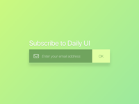 Subscribe #DailyUI #Day026