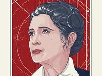 General Leia Organa - Rise to Resist Screenprint