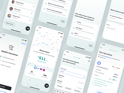 Health Insurance android freelance app catch product design enrollment user experience ui ux onboarding health mobile ios native search insurance healthcare health insurance