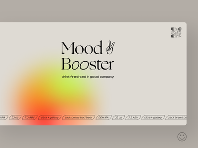 Mood Booster variable fonts variable font typography print design packaging graphic design beer label beer