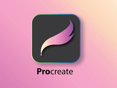 Procreate logo redesign procreateredesign procreate minimal logo icon getcreativewithprocreate flat design branding app