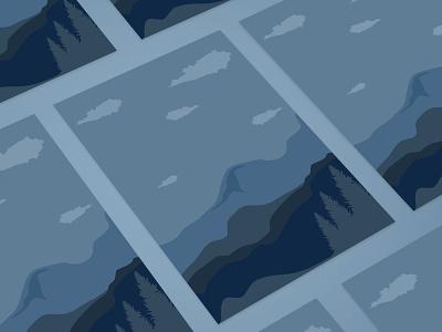 Mountain Canvas Art poster designs Boho Style canvas illustration poster design mountains illustrations