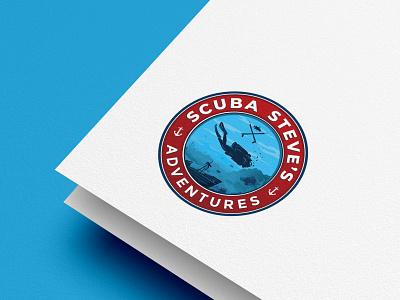 Winner logo  2021 SCUBA Steve's Adventures adventure illustrations logo underwater scuba diving