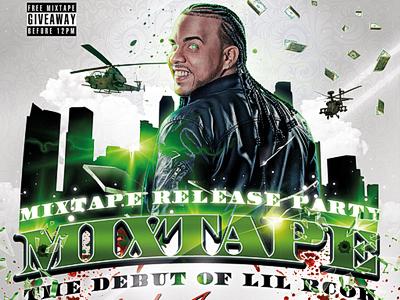 the mixtape release party flyer psd template by koolgfx dribbble