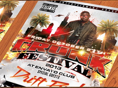 The Crunk Festival Flyer - PSD Template crunk festival flyer psd template photoshop design download free music event