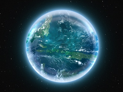 Dribbble 1layer earth