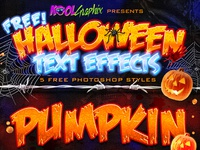 FREE Halloween Text Effects - Photoshop Styles