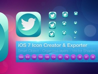 iOS 7 Flat Icon Creator and Exporter