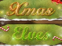 Christmas Photoshop Styles V3 - Text Effects