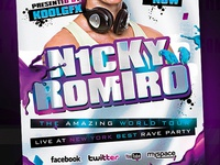 Tech-House Party Flyer Template