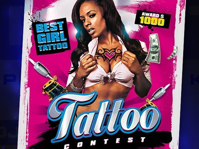 Best Contest Tattoo Flyer Template best paint contest tattoo ink flyer poster template graphic design adobe photoshop