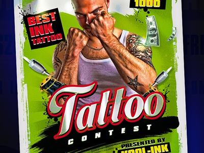 Best Contest Tattoo Flyer Template by Koolgfx - Dribbble