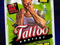 Best Contest Tattoo Flyer Template