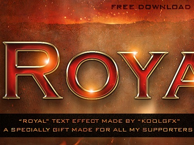FREE Royal Text Effect gfx free download royal text effect adobe photoshop layer styles graphic design