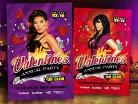 Hot Valentines Party Flyer Template (.PSD)