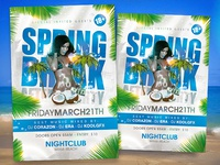 Spring Break After Party Flyer