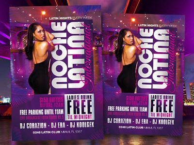 Latin Night - Noche Latina Club Party Flyer Template latin night noche latina club party flyer poster template psd free download