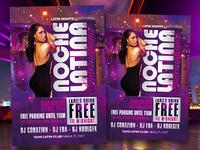 Latin Night - Noche Latina Club Party Flyer Template