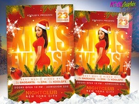 Xmas Eve Bash Party Flyer Template