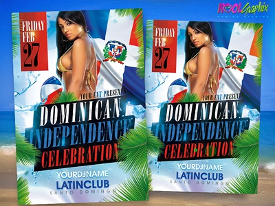 Dominican Independence Party Flyer dominican independence party flyer poster template graphic design photoshop celebration free