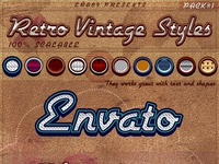 Retro vintage photoshop styles pack 1 era89