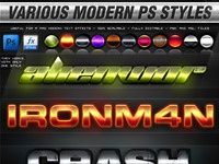 Various modern ps styles image preview
