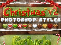 Christmas layer styles v2 photoshop imagepreview