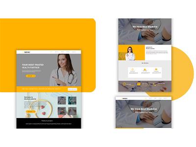 Web site design landing page website doctor app design uiux design website design ui