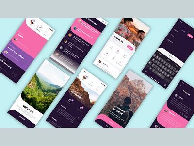 Social media design landing page social media design app design ui