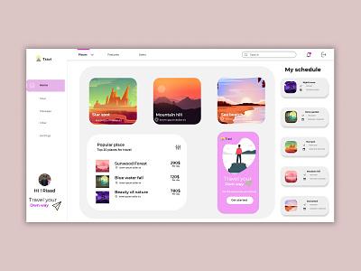 Travel site or app app design website design landing page graphic design ui