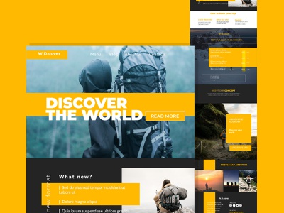 A traveling website landing page design corporate design ui website design landing page