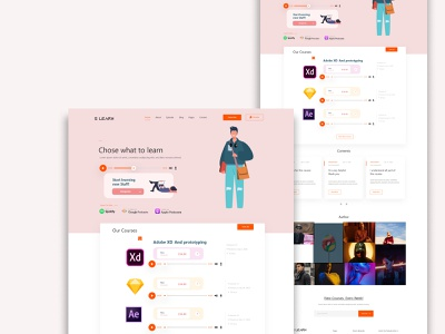 learning website desing design ui graphicdesign landing page design app design corporate design website design landing page