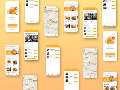 Food app design ui design graphicdesign landing page design corporate design app design website design landing page