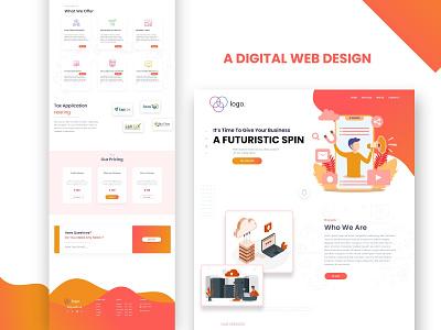 Digital  Agency Landing Page Design market design graphic design corporate design website design agency website agency digital landing page