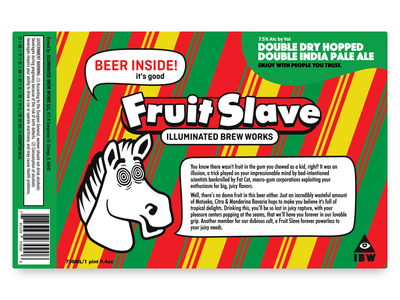 IBW Fruit Slave packaging gum illuminated slave fruit beer