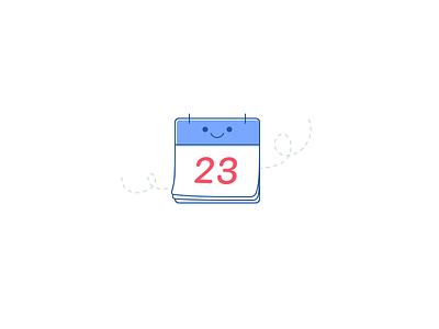 Calendar on-boarding smile doodle calendar