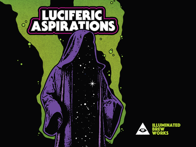 Luciferic Aspirations magic print galaxy ibw beer