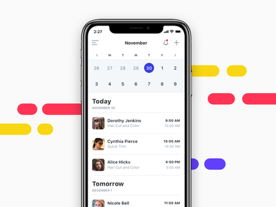 Calendar / Booking Tool ios schedule date picker appointments calendar