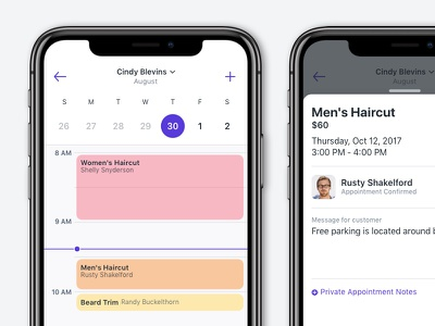 Appointment Booking Concept ui ux appointments calendar