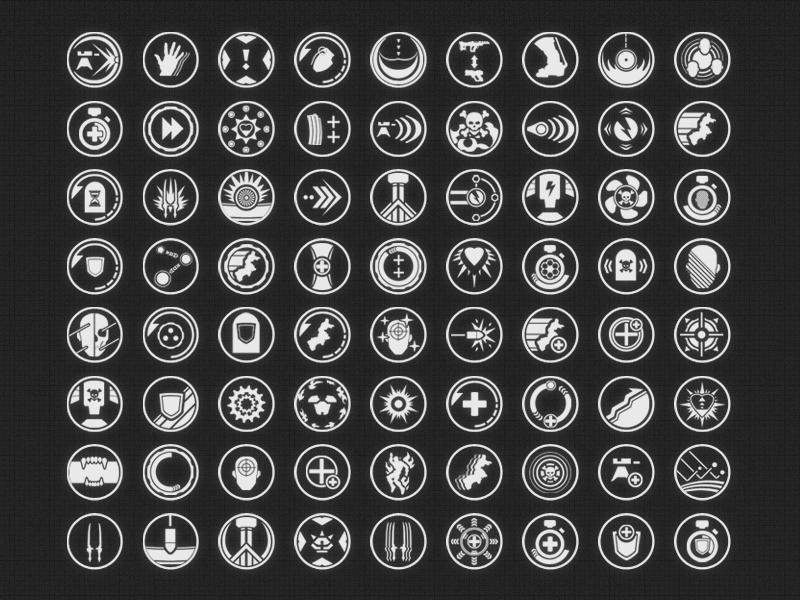 Video Game Perk Icons video game perk icon monochrome