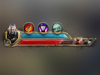 Gaming HUD for Character Stats ux ui spell potion portrait mana icon hud health game ability