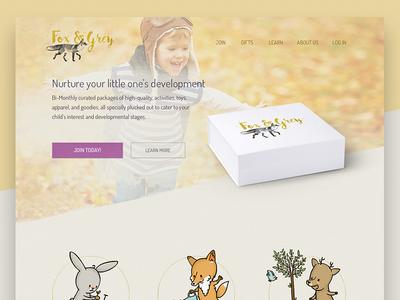 Fox & Grey Website Header
