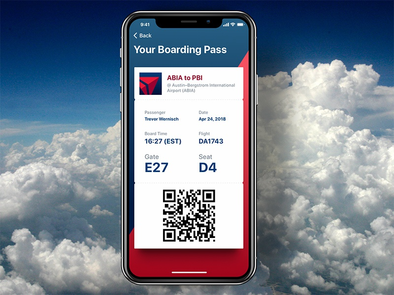 iPhone X Boarding Pass uninspired. boring pass boarding ios x iphone